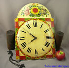 German Painted Decorated Wag on the Wall Clock c 19th cent