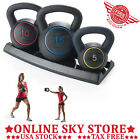 Kettlebell Set Weights Fitness Cross Fit Training Dumbbell Home Workout Rack Gym