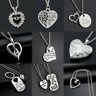 Cute Mom Mother  Daughter Best Friend Mothers Day Heart Pendant Necklace Charm