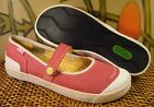 Very Nice SIMPLE Pink Perforated Suede Mary Jane Sneaker Womens 75 M