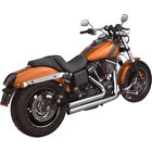 SS Cycle Power Tune Exhaust for 06 17 Dyna Models Chrome