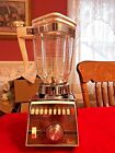 Vintage Osterizer Glass Blender Imperial Cyclomatic Chrome and White 10 Speed !!