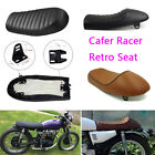 Motorcycle Cafe Racer Seat Flat & Hump Saddle For Honda CB Suzuki GS Yamaha XJ