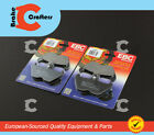 1993 - 1996 BMW R 100 MYSTIC - 2 SETS FRONT EBC PERFORMANCE ORGANIC BRAKE PADS