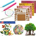 1 Set Creations Paper Quilling Kit Tweezer Board Needles Slotted Tools DIY Craft