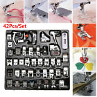 42pcs Domestic Sewing Machine Foot Presser Feet Set for Brother Singer Janome US