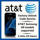 ATT UNLOCK CODE SERVICE FOR SAMSUNG GALAXY S8S7S6S5S4S3 NOTE 3458 CLEAN