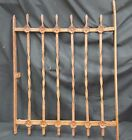 Architectural Salvage Wrought Iron Window Grate Double Flower Fence Panel