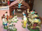 VINTAGE NATIVITY SET 21 PIECE CHALK WARE