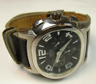 Festina Working Mens Jewelry Watch Black Leather Band + Chronographs