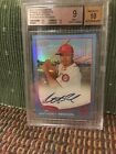 2013 Topps Chrome Anthony Rendon BLUE REFRACTOR AUTO #'d 116 199 BGS 9 10