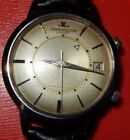 RARE VINTAGE JAEGER LECOULTRE STAINLESS STEEL  CALIBER 825 MEMOVOX 4X SIGNED 855