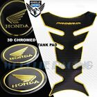 BLACK+CHROME GOLD PRO GRIP FUEL TANK PAD+2