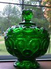 Deep Forest Green Moon Stars Candy Dish Compote