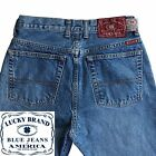 Mens Lucky Jeans 55 Vintage Fit Long Button Fly 29x34