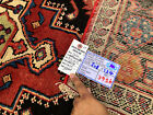 4x7 HAND KNOTTED PERSIAN IRAN RUG WOVEN WOOL MADE HERIZ ANTIQUE blue black red