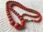 antique old natural red coral necklace other china vases turquoise gold sale