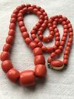 antique old natural red coral gold necklace other china vases turquoise sale