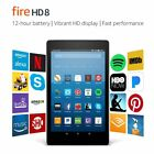 NEW Amazon Kindle Fire HD 8 Tablet 16GB Alexa +1 Tempered Glass Screen Protector