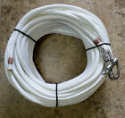 3 8 x 115 ft Natural White Dac Polyester Halyard Spliced in S S Snap Shackle
