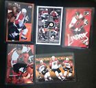 5 COUNT OF 1990s COSTACOS POSTER CARDS ERIC LINDROS ad nike