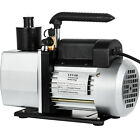 Dual Stage Vacuum Pump Rotary Vane 5CFM 1 2HP Deep HVAC AC Air Tool Black New