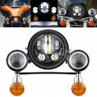 LED Headlight Passing Light Fit Yamaha Road Star Silverado Classic Midnight XV