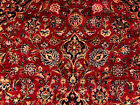 10x13 HAND KNOTTED PERSIAN RUG RED BLUE RUGS IRAN HANDMADE WOOL ANTIQUE 10x14 ft