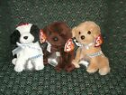 Ty~Lot of 3~ Hershey dogs - COOKIES & CREAM~ CHOCOLATE KISS~ MORSEL ~ MWMT