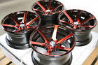 15x8 Wheels Galant Lancer Mirage Aerio Corolla Civic Accord Red Black 4x100 Rims