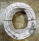 3 8 x 115 ft Dac Polyester HalyardSpliced in S S Snap Shackle Red Tracer