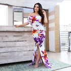 Womens Off Shoulder Bandage Bodycon Dress Club Party Cocktail Long Maxi Dress