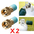 2x Stove 1lb Cylinder Lp Gas Furnace Camping Propane Refill Adapter US STOCK