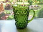 Indiana Colony Glass Olive Green Whitehall 58 oz Pitcher with Ice Lip
