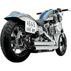 Python Staggered Duals Exhaust System Chrome Harley Softail 1800 1471