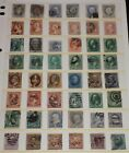 19th Century Used US Stamp Collection Fancy Cancel  Some With Faults