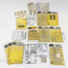 vintage Revell custom car model parts, decals, AMT instruction guides, misc box