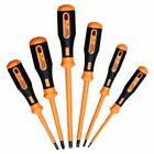Skandia Insulated VDE Screwdriver Set Pack Six Piece Slotted/Phillips 1040107~