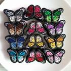 Fabric Patches Colorful Mixed Butterfly Iron On Or Sew Sticker Appliques 120 Pcs