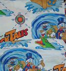 Vtg 1986 Disneys Duck Tales Twin Flat  Fitted Sheets Bright Color Some Stains