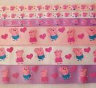 Peppa Pig Ribbon Lot 6 yards 3 8 1 Grosgrain FREE SHIPPING