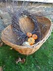 Wild Rustic Primitive Birch TWIG WREATH farmhouse door The Naturals hand wrapped
