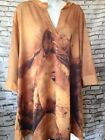 Simply Aster By Firmiana Womens 3X Horse Animal Print Tunic Top NWT B1