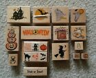 Halloween themed scrapbooking rubber stamp LOT