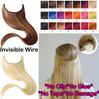 Hidden Crown Invisible Secret Miracle Wire Remy Human Hair Piece Extensions P146