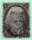 73 Fine Centering Early US Stamp Fancy Cancel