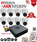 Hiwatch DVR 4 8 Channel HD CCTV 2MP Cameras 1080P Hikvision Security Kit Hiwatch
