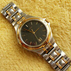Gucci 9040M 18 KGP Two Tone Men's Watch in Excellent Condition - 35 mm