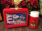 Vintage 1987 ALF Alien Life Form Plastic Lunch Box and Thermos