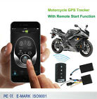 Motorcycle GSM GPS Tracker Keyless Entry Alarm One Way Engine Remote Start Alarm